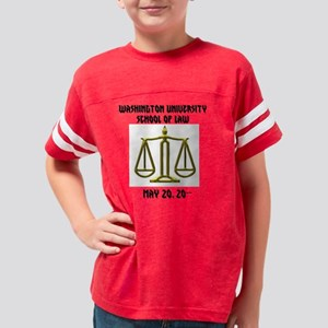 Law School Graduation Youth Football Shirt