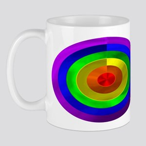 RAINBOW METALLIC LOOK RINGS I Mug