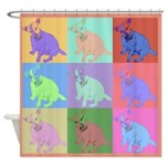 Warhol Style Jack Russell Design on Shower Curtain