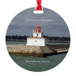 Port Colborne Outer Light Round Ornament
