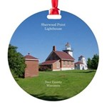 Sherwood Point Lighthouse Round Ornament