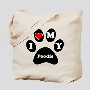 I Heart My Poodle Tote Bag