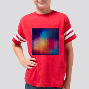 Colorful Modern Mosaic Geomet Youth Football Shirt