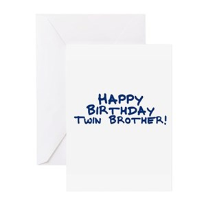 Happy Birthday Twin Brother Greeting Cards