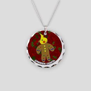 gingerbread_cockatiel_orname Necklace Circle Charm