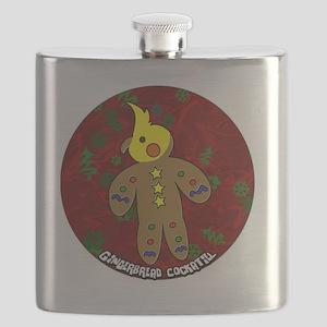 gingerbread_cockatiel_ornament Flask