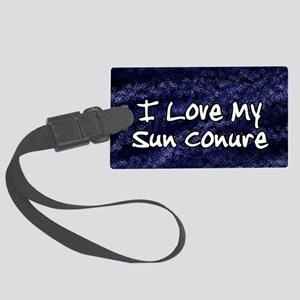 sun_funklove_oval Large Luggage Tag