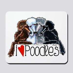 Love Poodles Mousepad