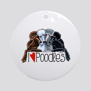 Love Poodles Ornament (Round)