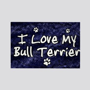 funklove_oval_bullterrier Rectangle Magnet