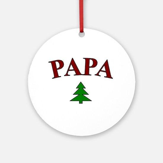 Papa Shirts and Mugs Ornament (Round)