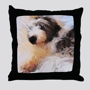 roofus_sleepy_poster Throw Pillow