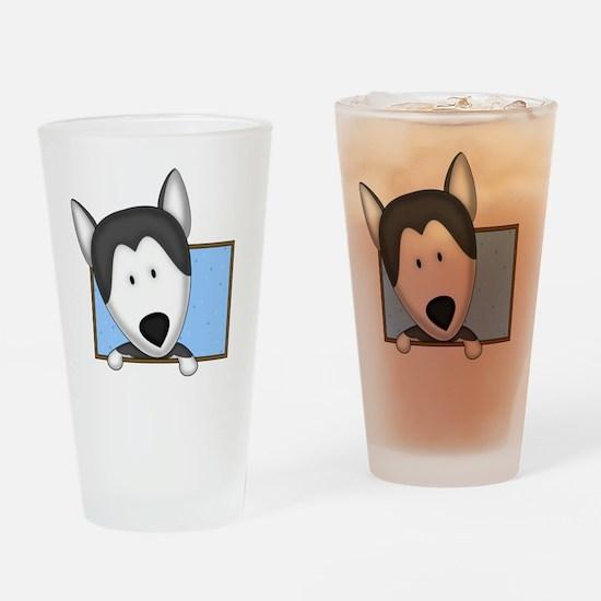 siberianhusky_drawing Drinking Glass