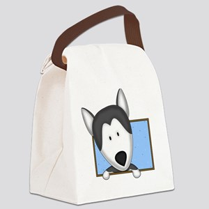 siberianhusky_drawing Canvas Lunch Bag