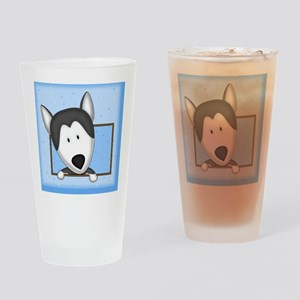 siberianhusky_drawing_tile Drinking Glass