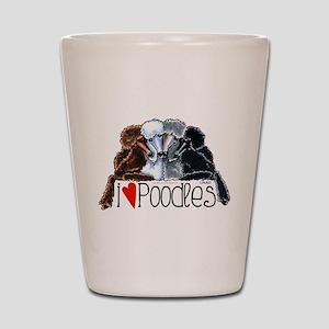 Love Poodles Shot Glass