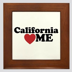 California Loves Me Framed Tile