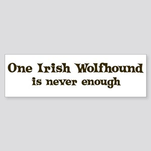 One Irish Wolfhound Bumper Sticker