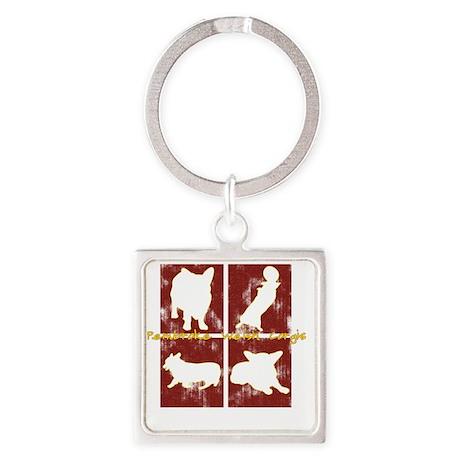 redboxes_corgi Square Keychain