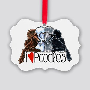 Love Poodles Ornament