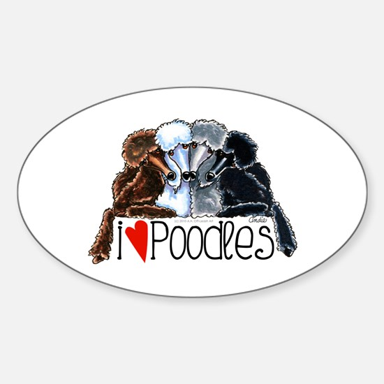 Love Poodles Decal