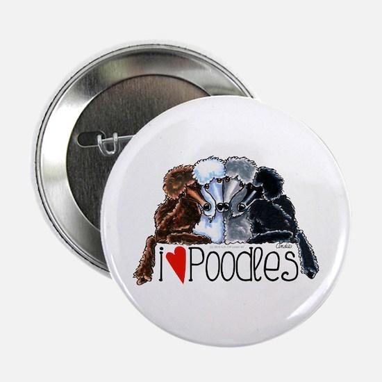 """Love Poodles 2.25"""" Button"""