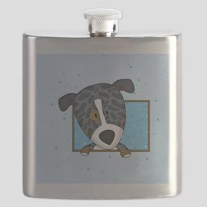 catahoula_cartoon_ornament Flask
