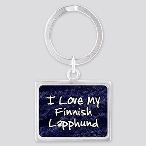 funklove_oval_finnish Landscape Keychain