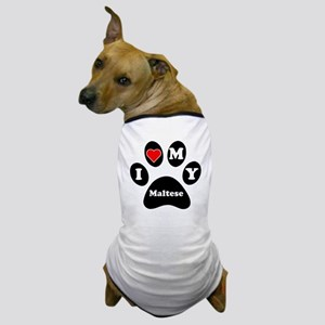 I Heart My Maltese Dog T-Shirt