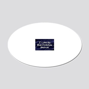 funklove_oval_bluefront 20x12 Oval Wall Decal