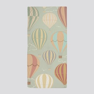 Vintage Hot Air Balloons Beach Towel