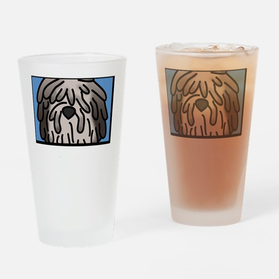 anime_bergamasco_fawn_blk Drinking Glass