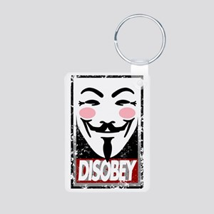 Disobey Aluminum Photo Keychain