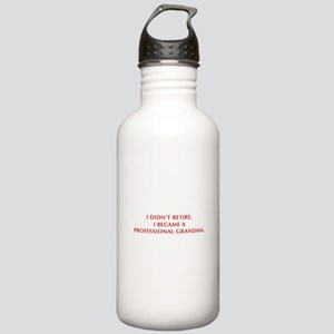 I-didnt-retire-grandma-OPT-DARK-RED Water Bottle