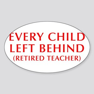 every-child-left-behind-OPT-RED Sticker