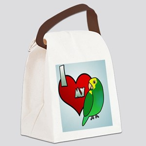 iheartmy_yellowshoulder_ornament Canvas Lunch Bag