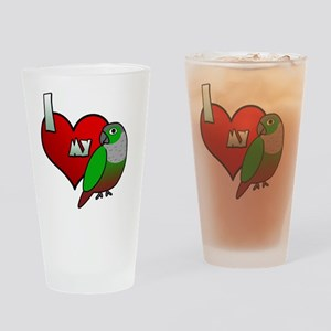 iheartmy_greencheekedconure Drinking Glass