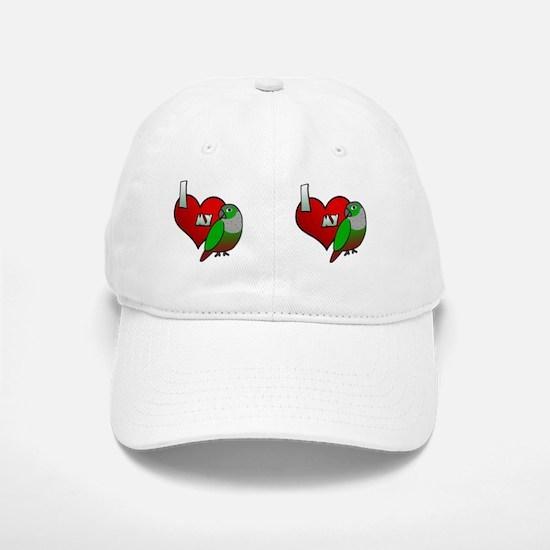 iheartmy_greencheekedconure_mug Baseball Baseball Cap