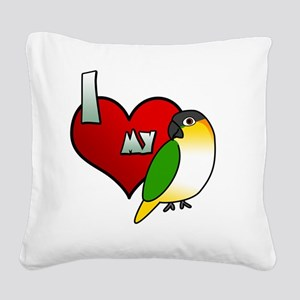 iheartmy_blackhead Square Canvas Pillow