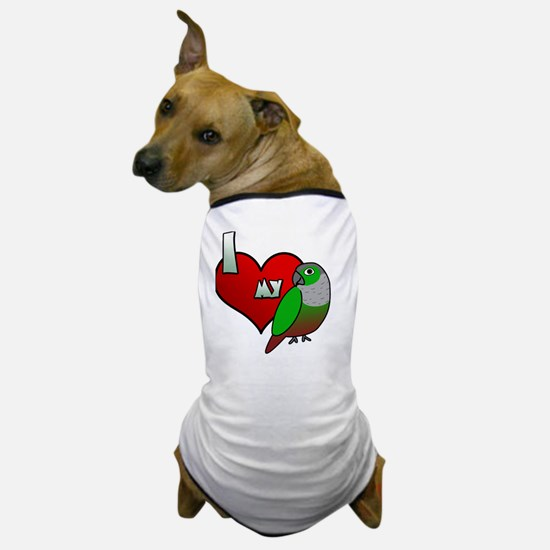 iheartmy_greencheekedconure_blk Dog T-Shirt