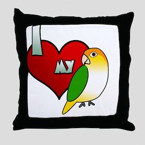 iheartmy_wbcaique_blk Throw Pillow