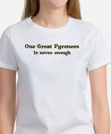 One Great Pyrenees Women's T-Shirt