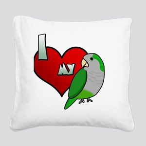 iheartmy_quaker_blk Square Canvas Pillow