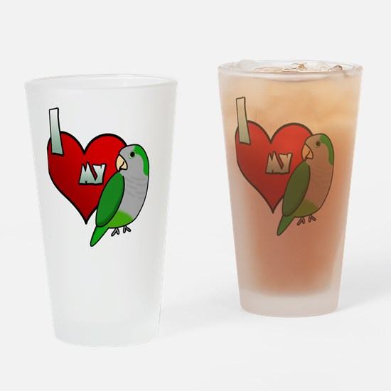 iheartmy_quaker_blk Drinking Glass