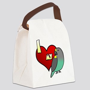 iheartmy_meyers_blk Canvas Lunch Bag