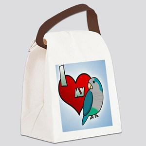 iheartmy_quakerblue_ornament Canvas Lunch Bag