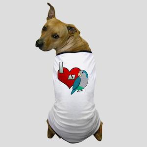 iheartmy_quakerblue_blk Dog T-Shirt