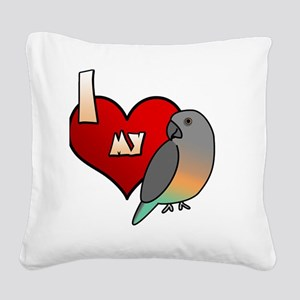 iheartmy_redbellied_blk Square Canvas Pillow
