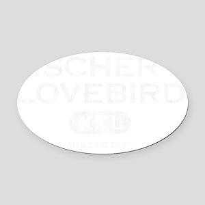 propertyof_fischers_blk Oval Car Magnet