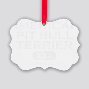 propertyof_americanpitbull_blk Picture Ornament